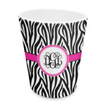 Zebra Print Plastic Tumbler 6oz (Personalized)