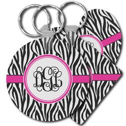 Zebra Print Plastic Keychains (Personalized)