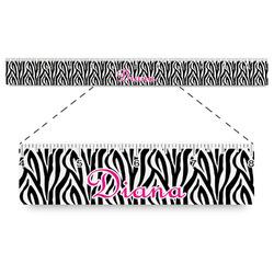 "Zebra Print Plastic Ruler - 12"" (Personalized)"
