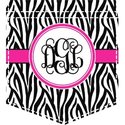 Zebra Print Iron On Faux Pocket (Personalized)