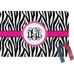 Zebra Print Rectangular Fridge Magnet (Personalized)