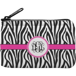 Zebra Print Rectangular Coin Purse (Personalized)