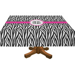 Zebra Print Rectangle Tablecloth (Personalized)