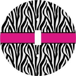 Zebra Print Round Light Switch Cover (Personalized)