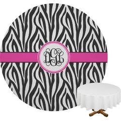 Zebra Print Round Tablecloth (Personalized)