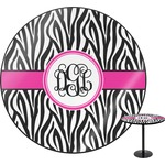 Zebra Print Round Table (Personalized)