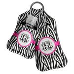 Zebra Print Hand Sanitizer & Keychain Holder (Personalized)
