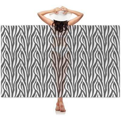 Zebra Print Sheer Sarong (Personalized)