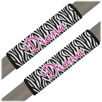 Zebra Print Seat Belt Covers (Set of 2) (Personalized)