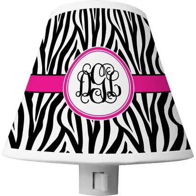 Zebra Print Shade Night Light (Personalized)