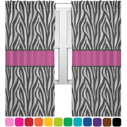 Zebra Print Sheer Curtains (Personalized)