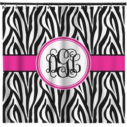 Zebra Print Shower Curtain (Personalized)