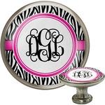 Zebra Print Cabinet Knob (Silver) (Personalized)