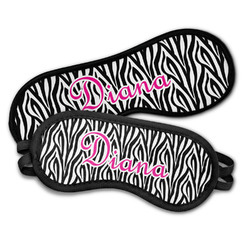 Zebra Print Sleeping Eye Masks (Personalized)