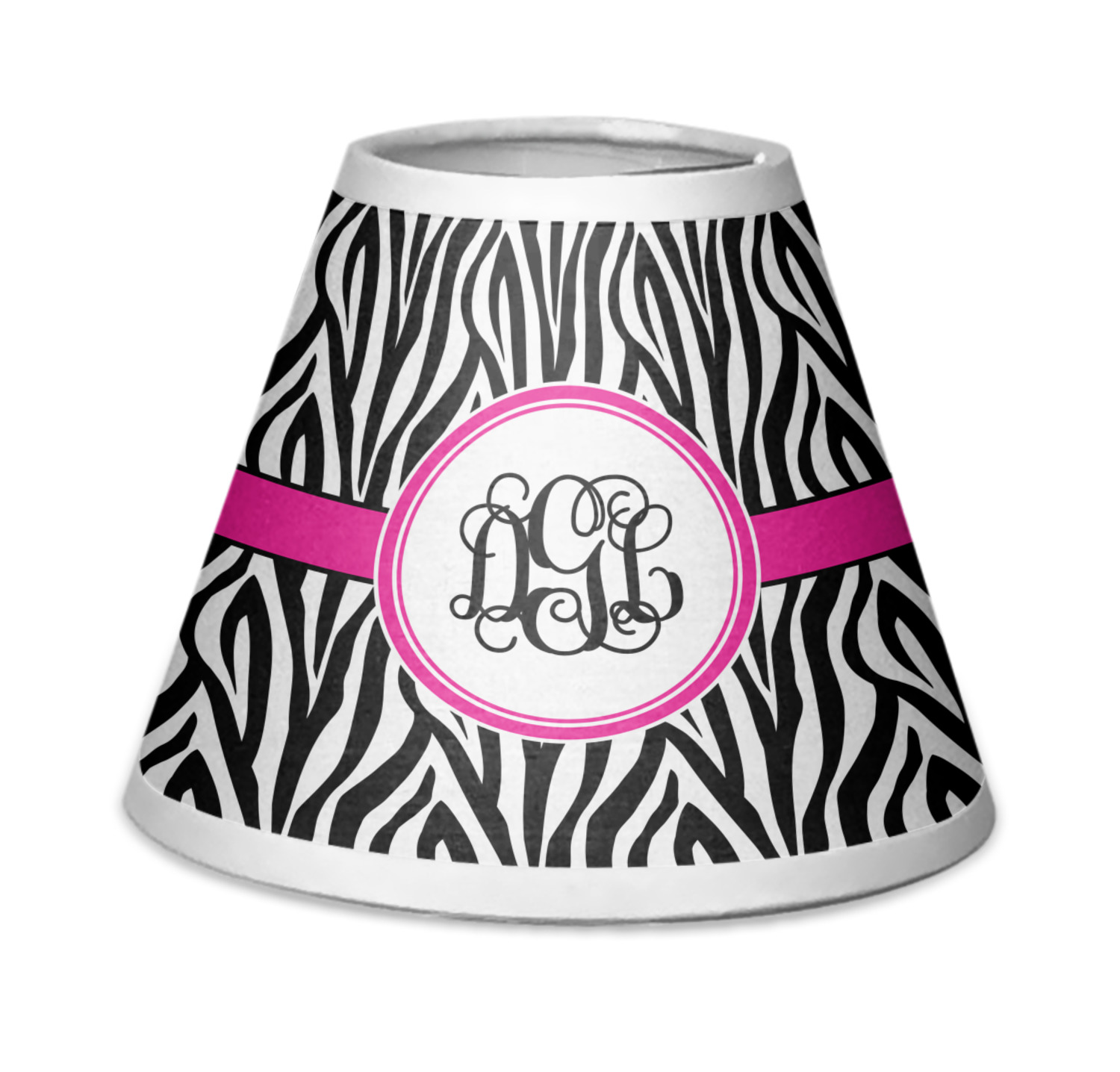 Zebra Print Chandelier Lamp Shade