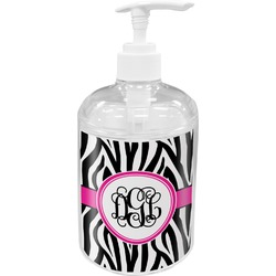 Zebra Print Soap / Lotion Dispenser (Personalized)