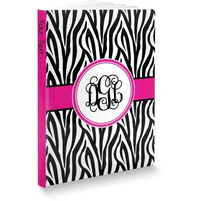 Zebra Print Softbound Notebook (Personalized)