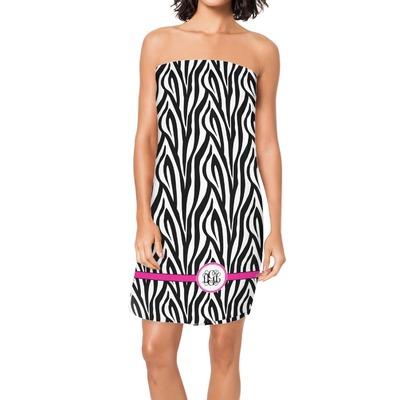 Zebra Print Spa / Bath Wrap (Personalized)