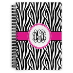 Zebra Print Spiral Bound Notebook (Personalized)