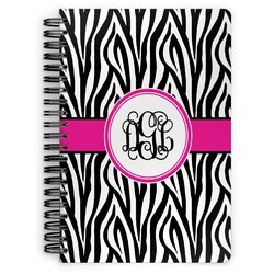 Zebra Print Spiral Bound Notebook (Personalized)