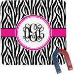 Zebra Print Square Fridge Magnet (Personalized)