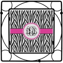 Zebra Print Square Trivet (Personalized)