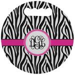 Zebra Print Stadium Cushion (Round) (Personalized)