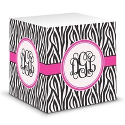 Zebra Print Sticky Note Cube (Personalized)