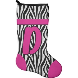 Zebra Print Holiday Stocking - Neoprene (Personalized)