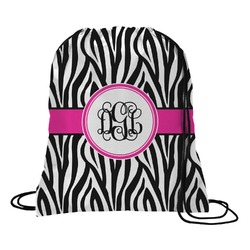 Zebra Print Drawstring Backpack (Personalized)
