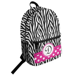 Zebra Print Student Backpack (Personalized)