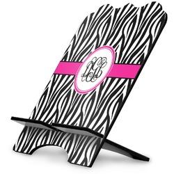 Zebra Print Stylized Tablet Stand (Personalized)