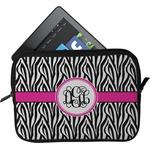 Zebra Print Tablet Case / Sleeve (Personalized)