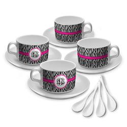 Zebra Print Tea Cup - Set of 4 (Personalized)