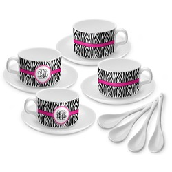 Zebra Print Tea Cup - Set of 4 (Personalized)