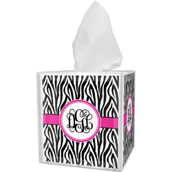 Zebra Print Tissue Box Cover (Personalized)