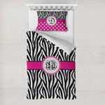 Zebra Print Toddler Bedding w/ Monogram