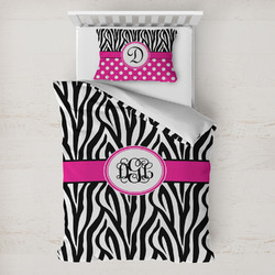 Zebra Print Toddler Bedding w/ Monogram