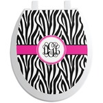 Zebra Print Toilet Seat Decal (Personalized)