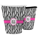 Zebra Print Waste Basket (Personalized)