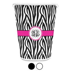 Zebra Print Waste Basket (Personalized)