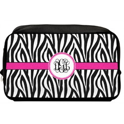 Zebra Print Toiletry Bag / Dopp Kit (Personalized)