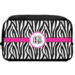Zebra Print Toiletry Bag / Dopp Kit (Personalized)
