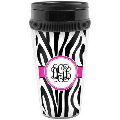 Zebra Print Travel Mugs (Personalized)