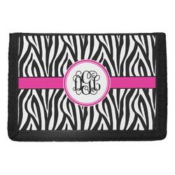 Zebra Print Trifold Wallet (Personalized)