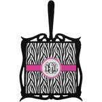 Zebra Print Trivet with Handle (Personalized)