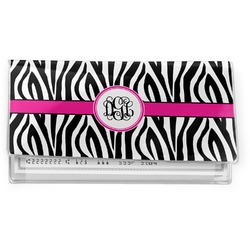 Zebra Print Vinyl Checkbook Cover (Personalized)