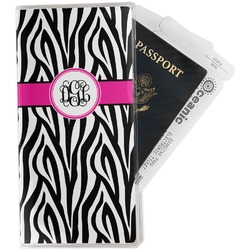 Zebra Print Travel Document Holder