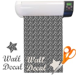 Zebra Pattern Vinyl Sheet (Re-position-able)