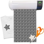 "Zebra Print Heat Transfer Vinyl Sheet (12""x18"")"